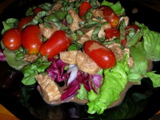 A simple summer salad with a traditional dressing