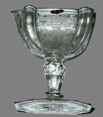 coupe en verre XVIIIe
