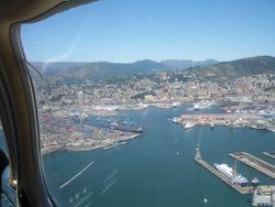 in volo su Genova