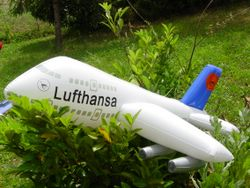 Lufthansa 747 gonfiabile