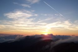 Tramonto sull'Alpe