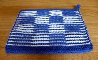 Shadow Knitting Potholder