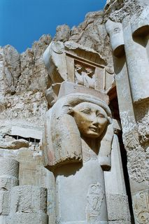 Queen Hapshetshut&#8217;s image at her Temple in Luxor