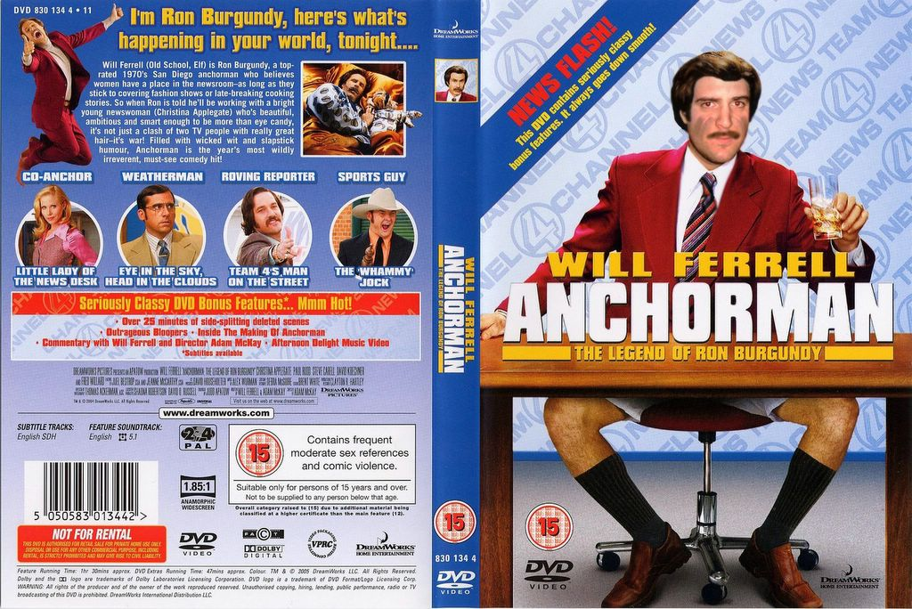 personality analasys of ron burgundy Based on the beloved paramount pictures' comedy franchise, anchorman is a five-reel, 25-line video slot game that boasts a three-level near-area progressive the central game feature is the engaging big bonus filmstrip stop featuring ron burgundy and the rest of the comical channel 4 news team.