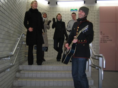 Busking in the subway