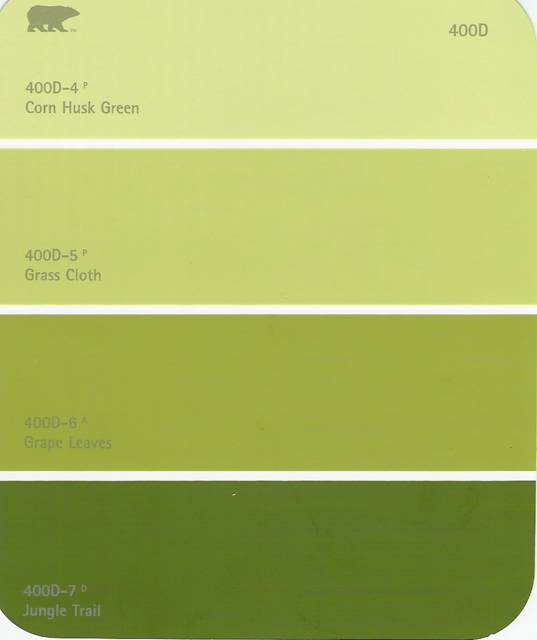Paint Swatch For Dining Room