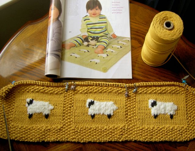 Knitted Sheep With Blanket Patterns Patterns Kid