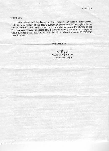 Philippine debt management issues february 2005 page 2 of bert reyes memo to treasurer figueroa thecheapjerseys Choice Image