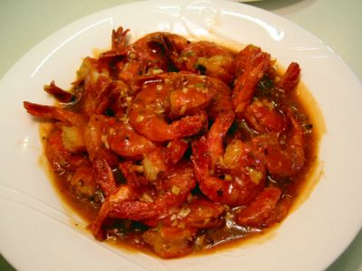 Spicy Stir-fried Prawns