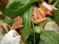 photograph picture of smoked wild salmon salad from Tabla (Tava) Larkspur Marin