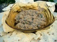 photograph picture of house made babaganoush with papadam  from Tabla (Tava) Larkspur Marin