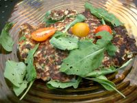 photograph picture of corn fritter from Tabla (Tava) Larkspur Marin