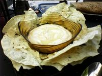 photograph picture of house made hummous with papadam from Tabla (Tava) Larkspur Marin