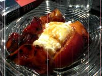 photograph picture of roated peaches with ricotta  from Tabla (Tava) Larkspur Marin