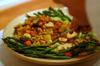 photograph / picture a vegetable dish catered by Polly Legendre from lagourmande.com