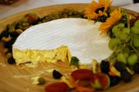 photograph / picture brie cheese catered by Polly Legendre from lagourmande.com