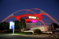 photograph picture the theme building housing Encounters restaurant at LAX airport