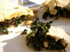 photograph picture of spinach calzone vegan and vegetarian snack and sandwich recipes for IMBB#19