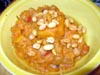 photograph picture of vegan main meal entree African Sweet Potato Stew with Red Beans  recipes for IMBB#19