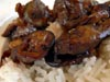 photograph picture of vegan main meal entree Eggplant With Garlic Sauce recipes for IMBB#19