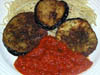 photograph picture of vegan main meal entree Eggplant Not Parmesan recipes for IMBB#19