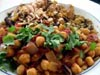 photograph picture of vegan main meal entree Indian Style Chickpeas recipes for IMBB#19