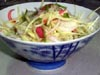 photograph picture of vegan main meal entree Thai Mango Salad  recipes for IMBB#19