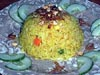photograph picture of vegan main meal entree Pineapple Fried Rice recipes for IMBB#19