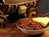 photograph picture of vegan main meal entree Vegan Chili & Cornbread recipes for IMBB#19