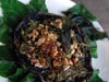 photograph picture of vegan main meal entree Oven Roasted Mushroom with Walnuts and Garden Herbs recipe for IMBB#19