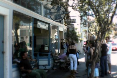 photograph picture of The Liberty Cafe in Bernal Heights filed under Cafe Review