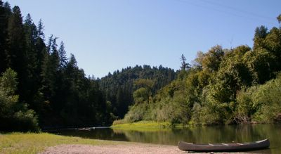 photograph picture of the russian river as seen from Burkes canoes