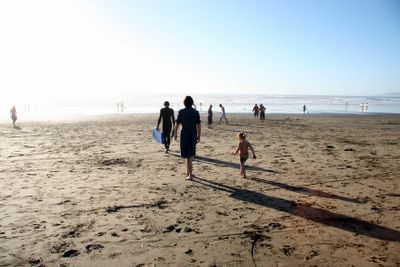 photograph picture of a rare sunny day at Ocean Beach in San Francisco