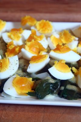 recipe leeks vinaigrette with hard boiled eggs