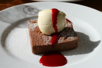 photograph of chocolate dessert Riverstation restaurant and bar in Bristol, England