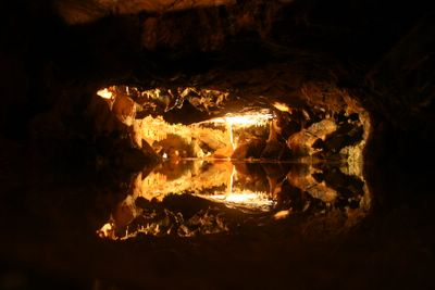 photograph picture of Cheddar Gorge Caves with stallectites and stallecmites in Somerset, the West Country, England