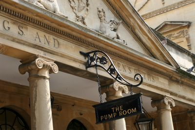 photograph picture The Pump Room exterior Bath England