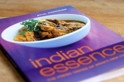 photograph picture of the recipe book indian essence by Atul Kochhar