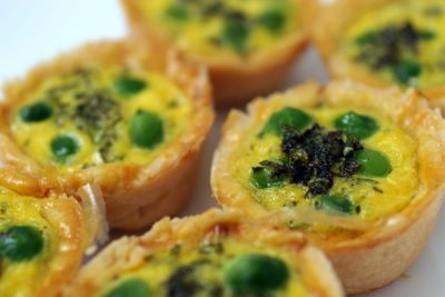 photograph picture of little pea and mint tartltes from Donna Hay magazine