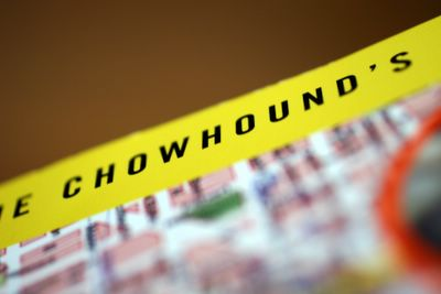 photograph picture of the cover of the book called The Chowhound's Guide to the Bay Area