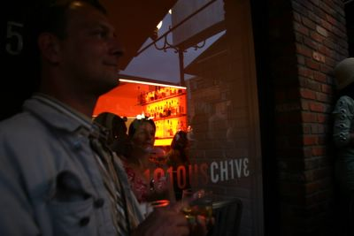 photograph picture of the Chive Entrance. Filed under Cafe Review, San Diego, Chive, Gas Lamp