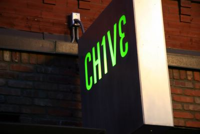 photograph picture of the Chive logo. Filed under Cafe Review, San Diego, Chive, Gas Lamp