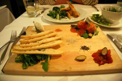 photograph picture of the Chive house cured salmon. Filed under Cafe Review, San Diego, Chive, Gas Lamp