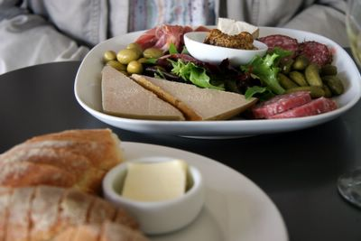 photograph picture of the charcuterie plate. Filed under Cafe Review, San Diego, Tartine, Coronado