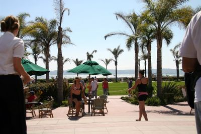 photograph picture from the terrace of the Hotel Coronado. Filed under view, San Diego, Coronado