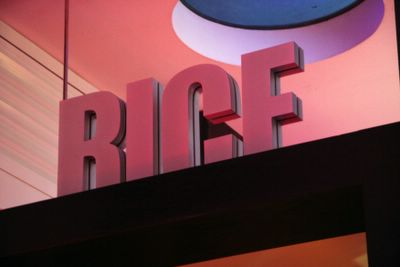 photograph picture of the Rice logo. Filed under Restaurant Review, San Diego, Rice at the W Hotel