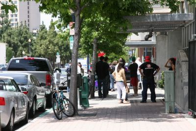 photograph picture of the line for brunch. Filed under Cafe/Restaurant Review, San Diego, Cafe 222 Marina District
