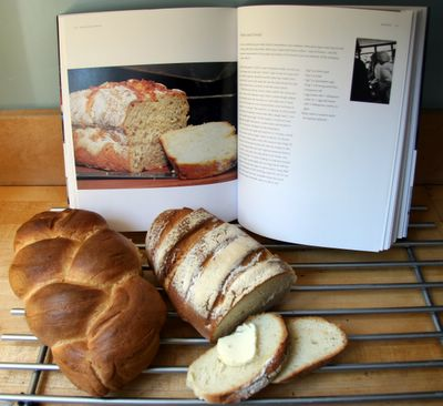 photograph picture of homemade bread and the Avoca Cafe Recipe book. Home cooking