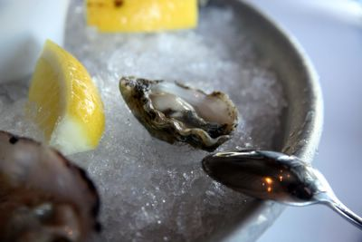 photograph picture of oysters at La Suite San Francisco filed under restaurant review