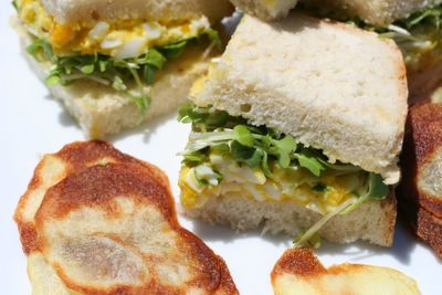 photograph picture of Sam and Fred's homemade egg sandwiches